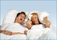 Couple with loud snoring